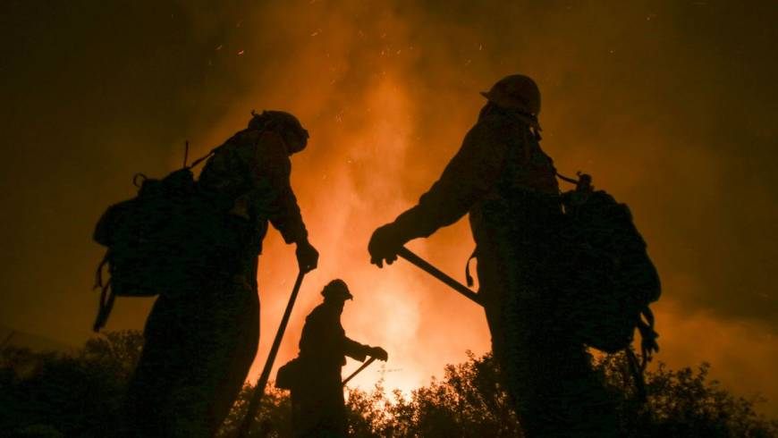 Area fires challenge firefighters